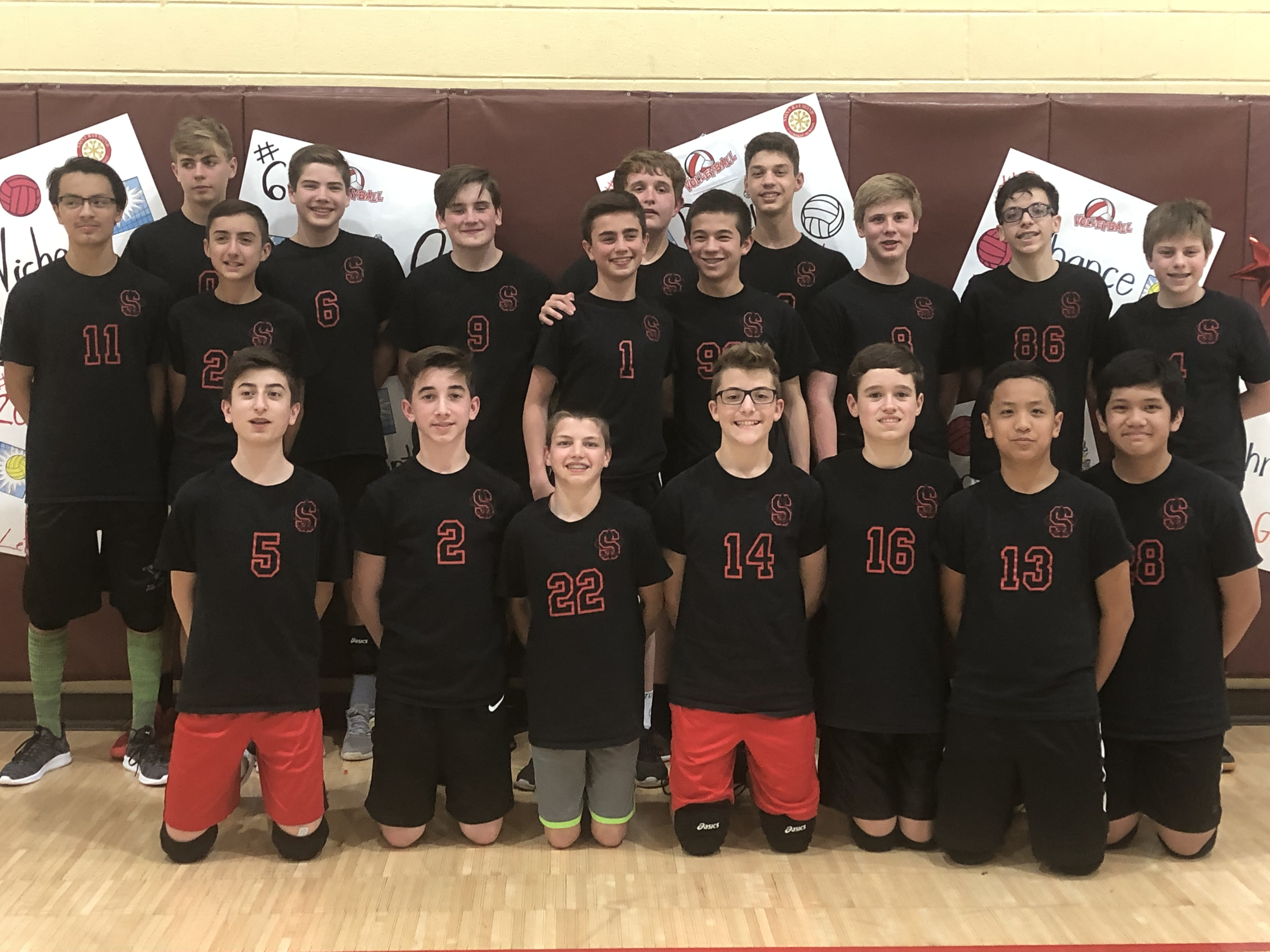 916602799 Good luck to our 7th and 8th grade boys volleyball teams on their play off  games tonight. 8th grade team 1 is playing St. James at 7pm at St. Francis.